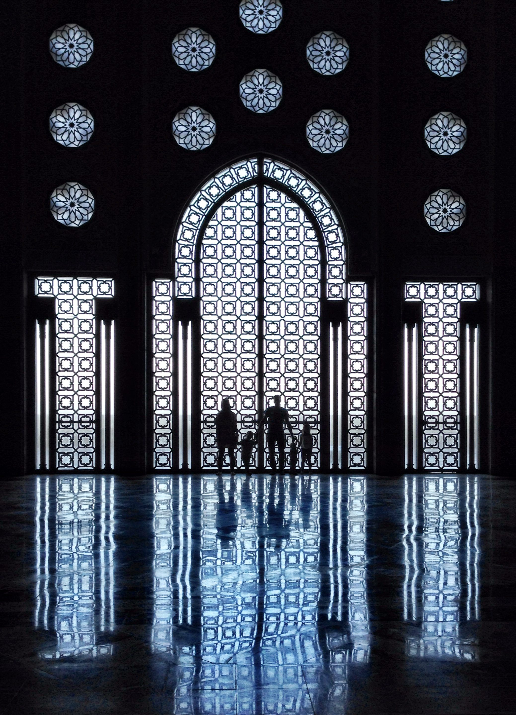 My family at the Hassan II mosque.